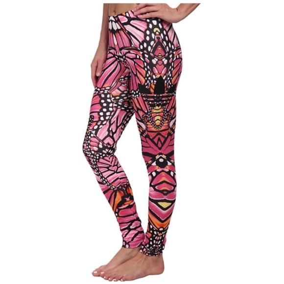 61f826927d2392 adidas Pants | Pink Butterfly Leggings | Poshmark
